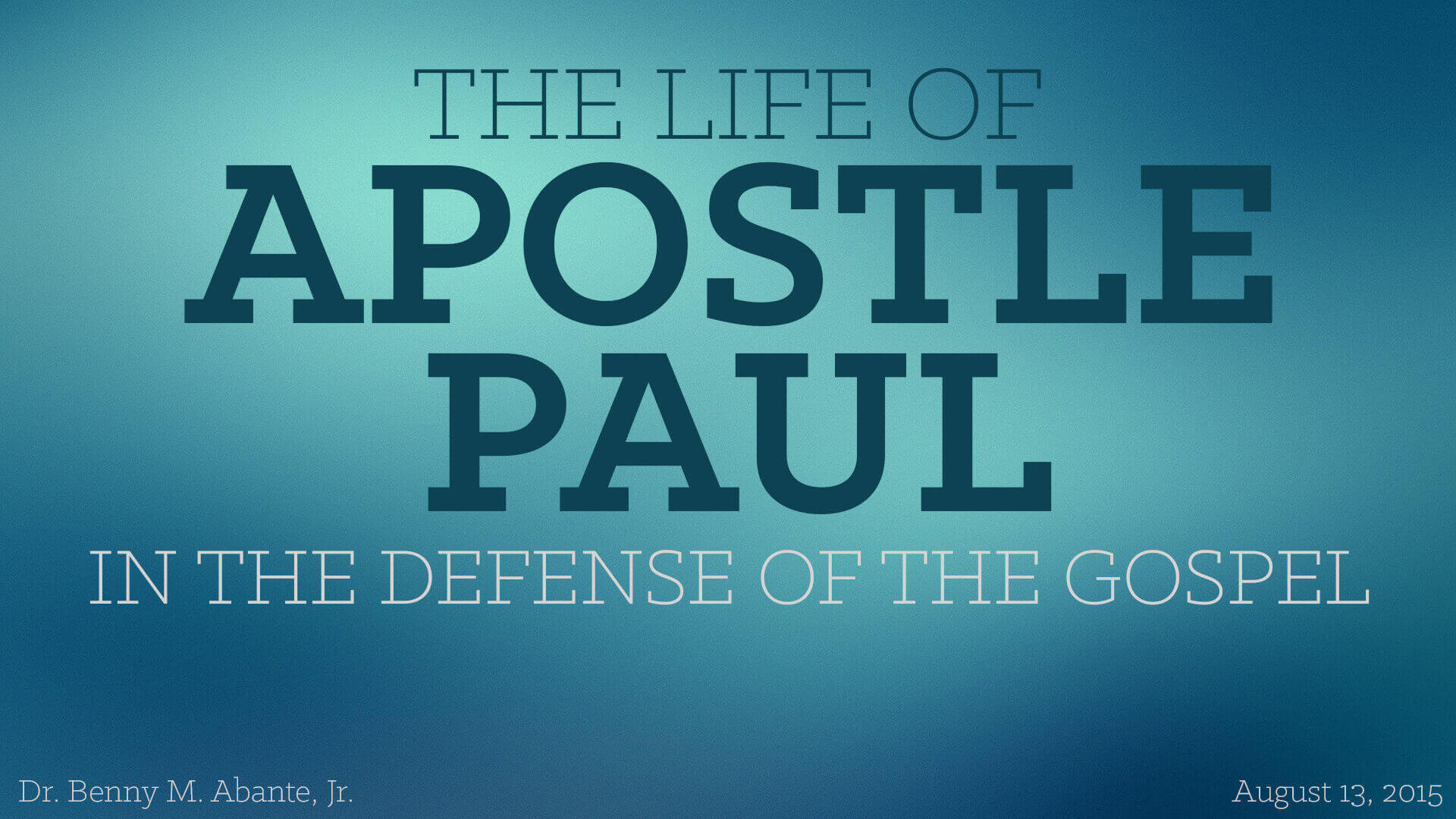 Listen To Text Messages >> The Life of Apostle Paul: In The Defense of the Gospel ...