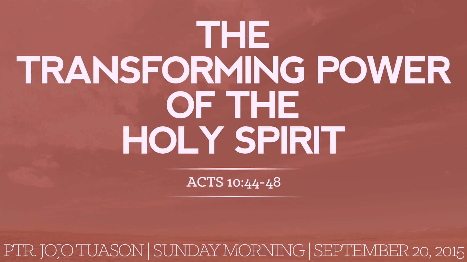 Listen To Text Messages >> The Transforming Power of the Holy Spirit | Metropolitan ...